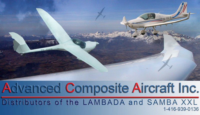 The SAMBA XXL Ultralight and LAMBADA Motorglider rank amongst the latest generation of ultra-light aircraft. If you are looking for a very smart looking, modern, efficient, and quiet aircraft that is easy to store and easy to assemble, look no further. The Samba XXL and Lambada burn premium octane automotive gas and can be registered under S-LSA, AULA, Special Ceritficate of Airworthiness Motorglider, JAR-22 and JAR-VLA categories. As the price of fuel, maintenance, and storage escalate, the Urban Air line of aircraft make terrific sense for any recreational pilot, flight school or gliding club. The SAMBA XXL and LAMBADA are side-by-side, two-seat, dual control aircraft manufactured using fibreglass, carbon fibre and Kevlar construction techniques.The design objective was to create a light, strong, efficient and comfortable aircraft. Incorporating design ideas from modern, state-of-the-art gliders, and modern, efficient engines, coupled with some clever engineering, produces aircraft that meet all the design objectives, and are easy and fun to fly.